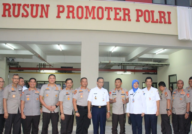 Gubernur DKI Jakarta Resmikan Rusun Promoter Polri
