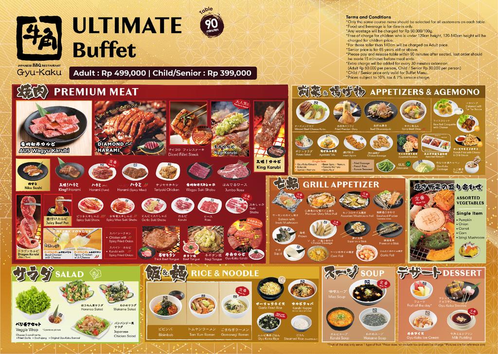 buffet ultimate menu gyu kaku