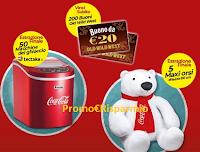 Logo Old Wild West ''Vinci con gusto'' : buoni acquisto, macchine ghiaccio e Maxi orsi Coca-Cola