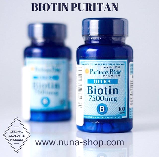Obat Herbal Alami PURITAN ULTRA MEGA BIOTIN 7500mcg - Penumbuh Rambut asli original