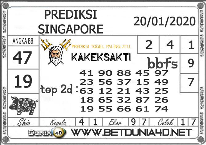 PREDIKSI TOGEL SINGAPORE DUNIA4D 20 JANUARI 2020