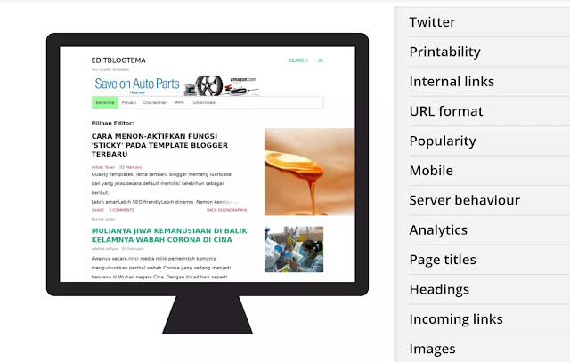 halaman blogger menampilkan iklan Amazon