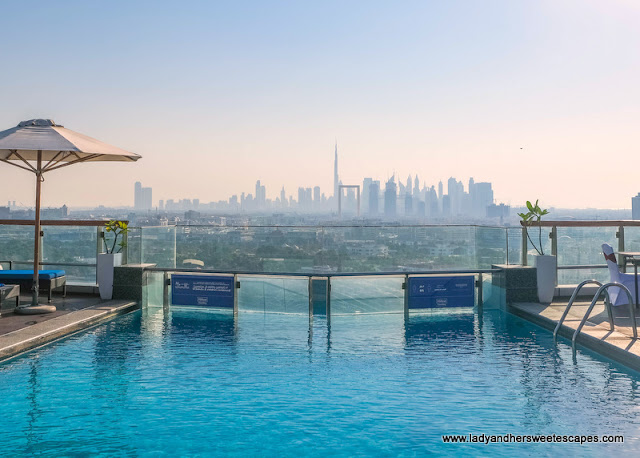 Hilton Dubai Creek Hotel pool deck