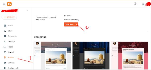 edit-html,blogspot-interface