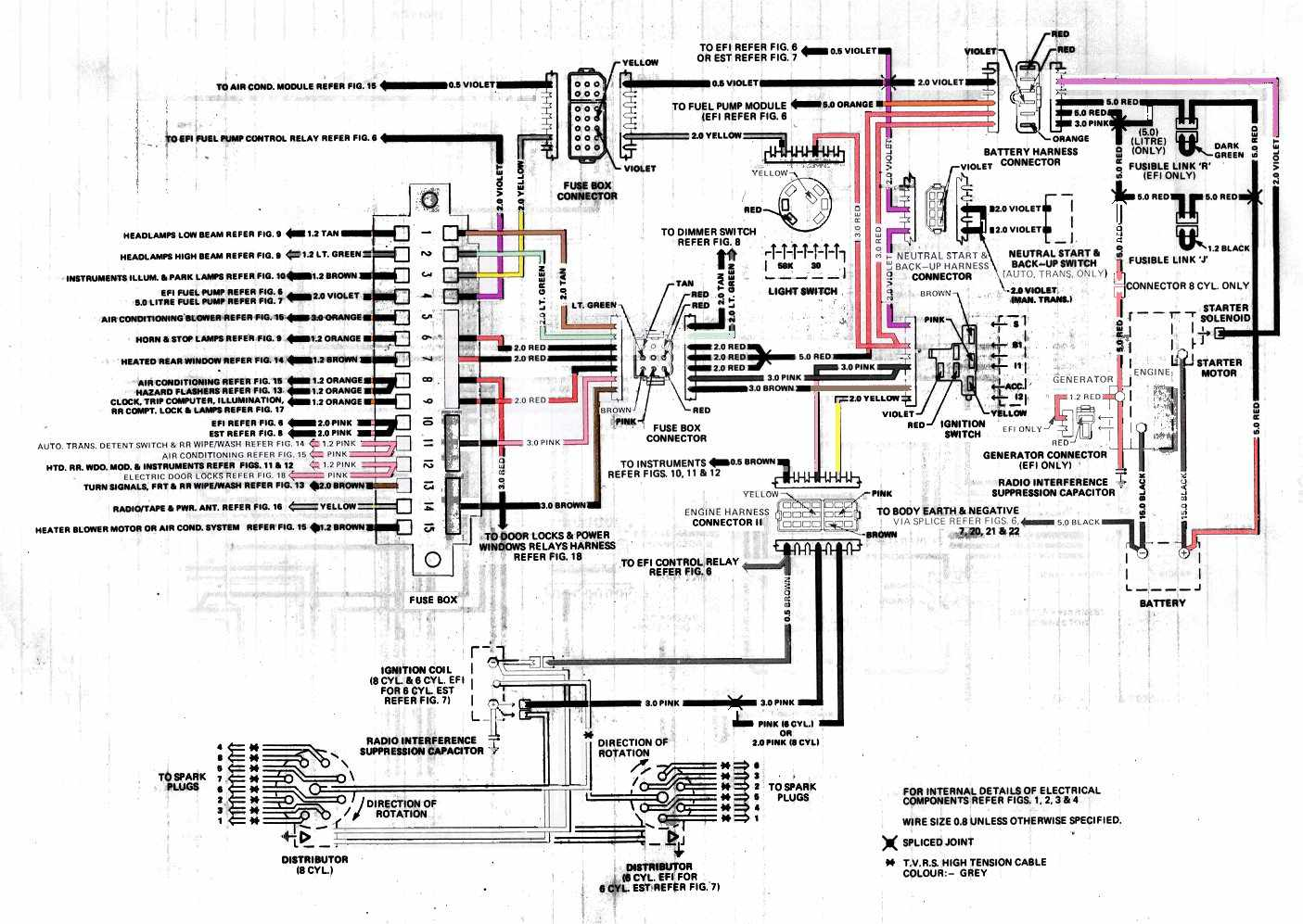 Holden VK Commodore Generator Electrical Wiring Diagram