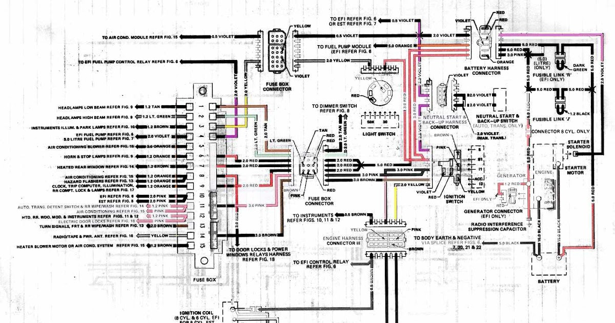 Holden VK Commodore Generator Electrical Wiring Diagram