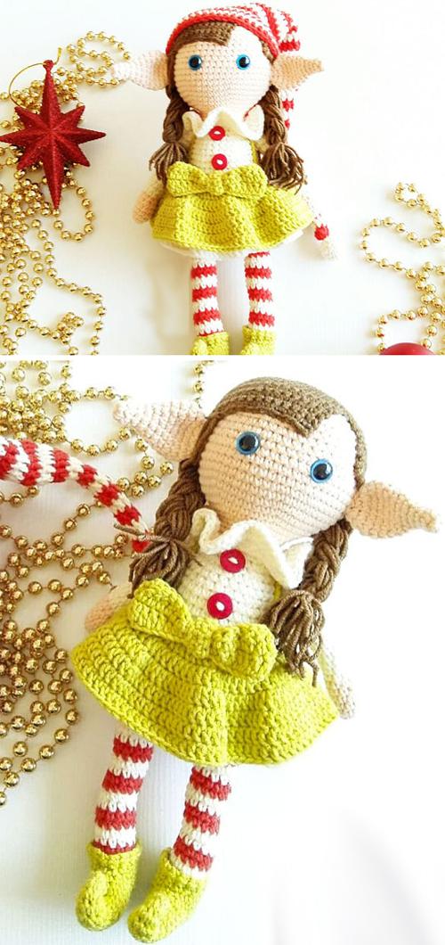 Elf Berry Doll Amigurumi Free Crochet Pattern