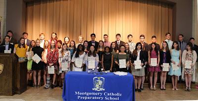 Montgomery Catholic Hosts National Honor Society Induction Ceremony 2