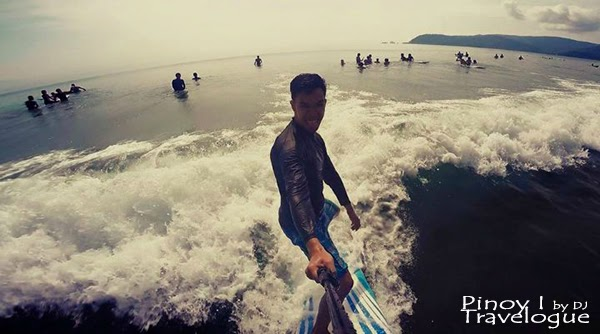 Selfie while surfing in Baler