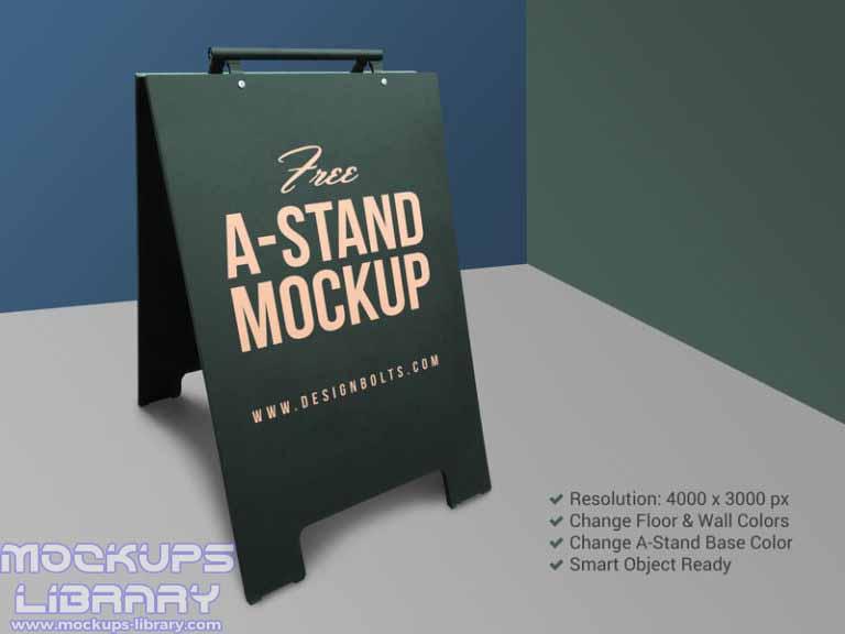 a-stand mockup