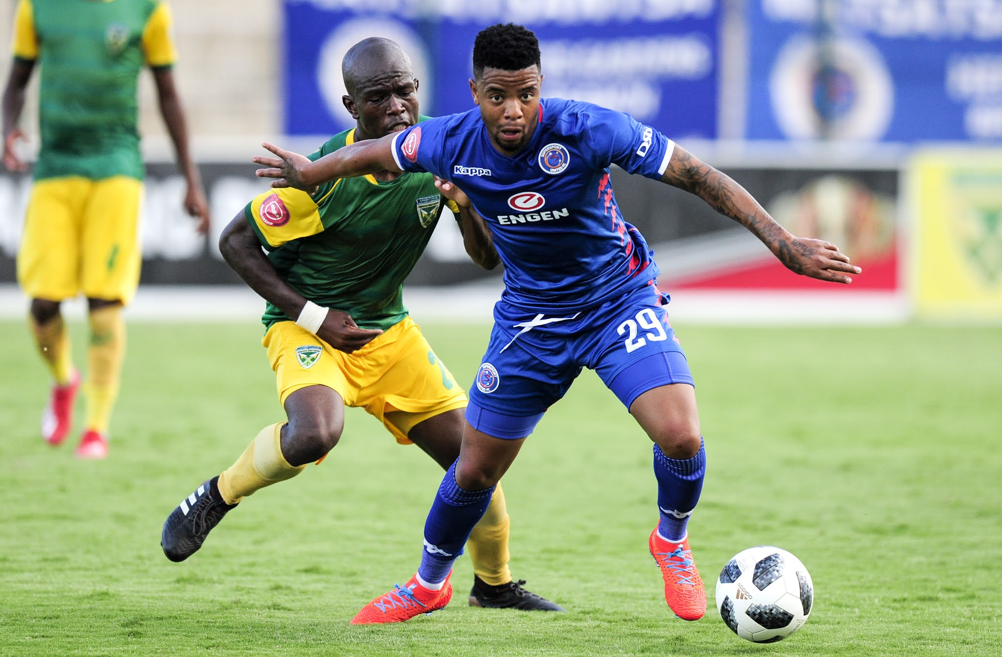 George Lebese playing for SuperSport United in 2019