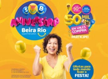 Aniversário 2020 Beira Rio Supermercados 50 Mil em Vales-Compras