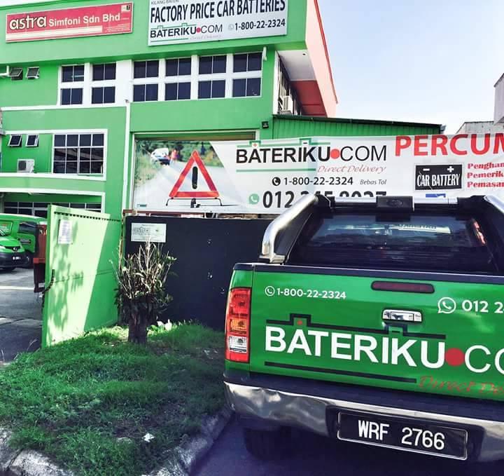 Bateriku.com, bateri kong, perkhidmatan servis bateri kereta di semenanjung malaysia