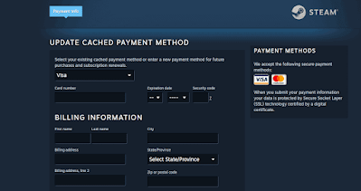 Can you use visa gift cards on steam?