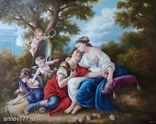 Картина. Ринальдо и Армида - пара влюбленных