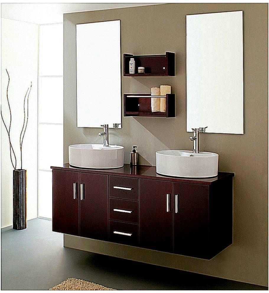 Beautiful Bathroom Cabinets Wallpaper
