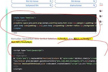 Cara Membuat Syntax Highlighter untuk Pasang Kode Html,CSS & Javascript Di Postingan Blog