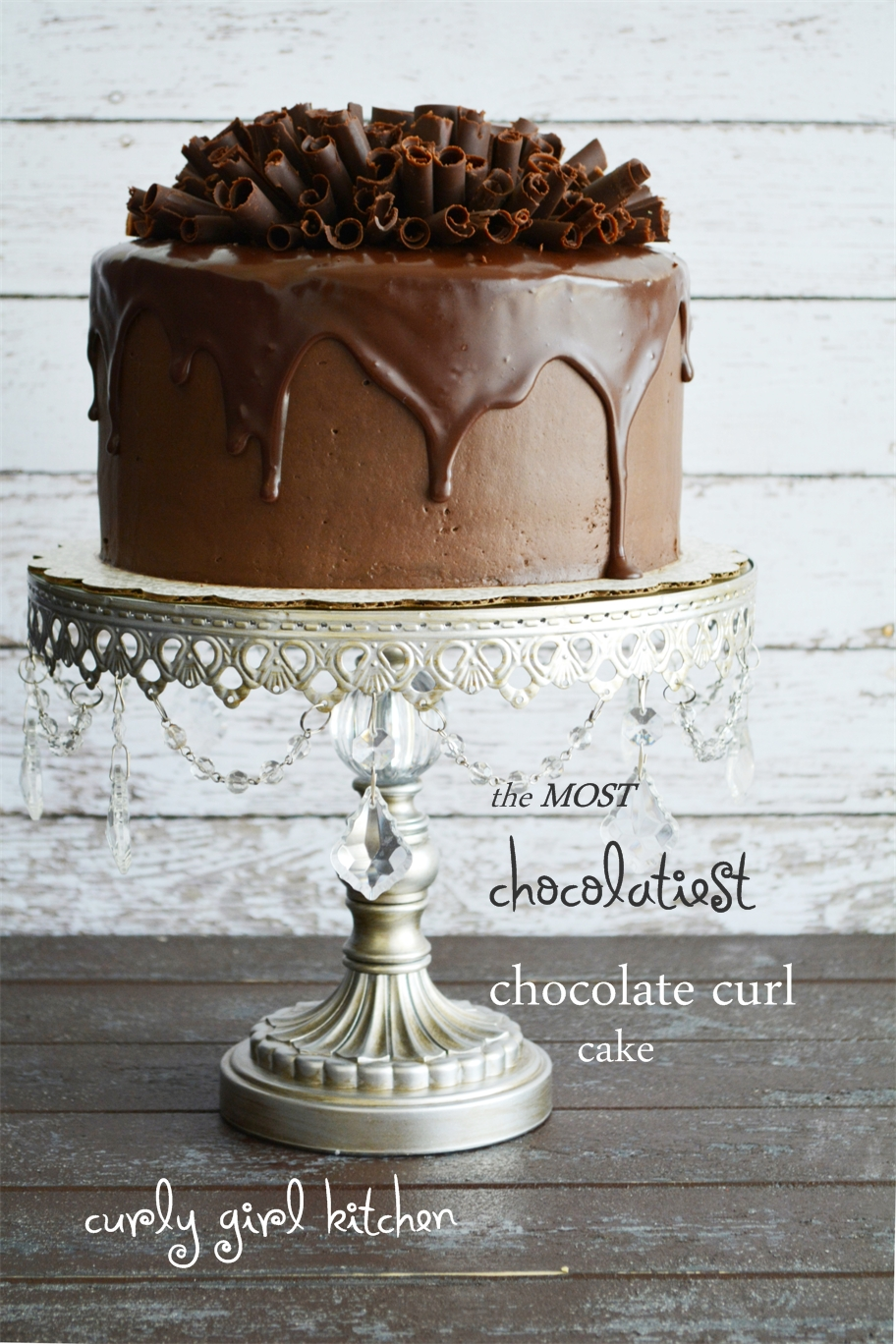 The Most Beautiful Child In The World Is Now A Teenager: Curly Girl Kitchen: The Most Chocolatiest Chocolate Curl Cake