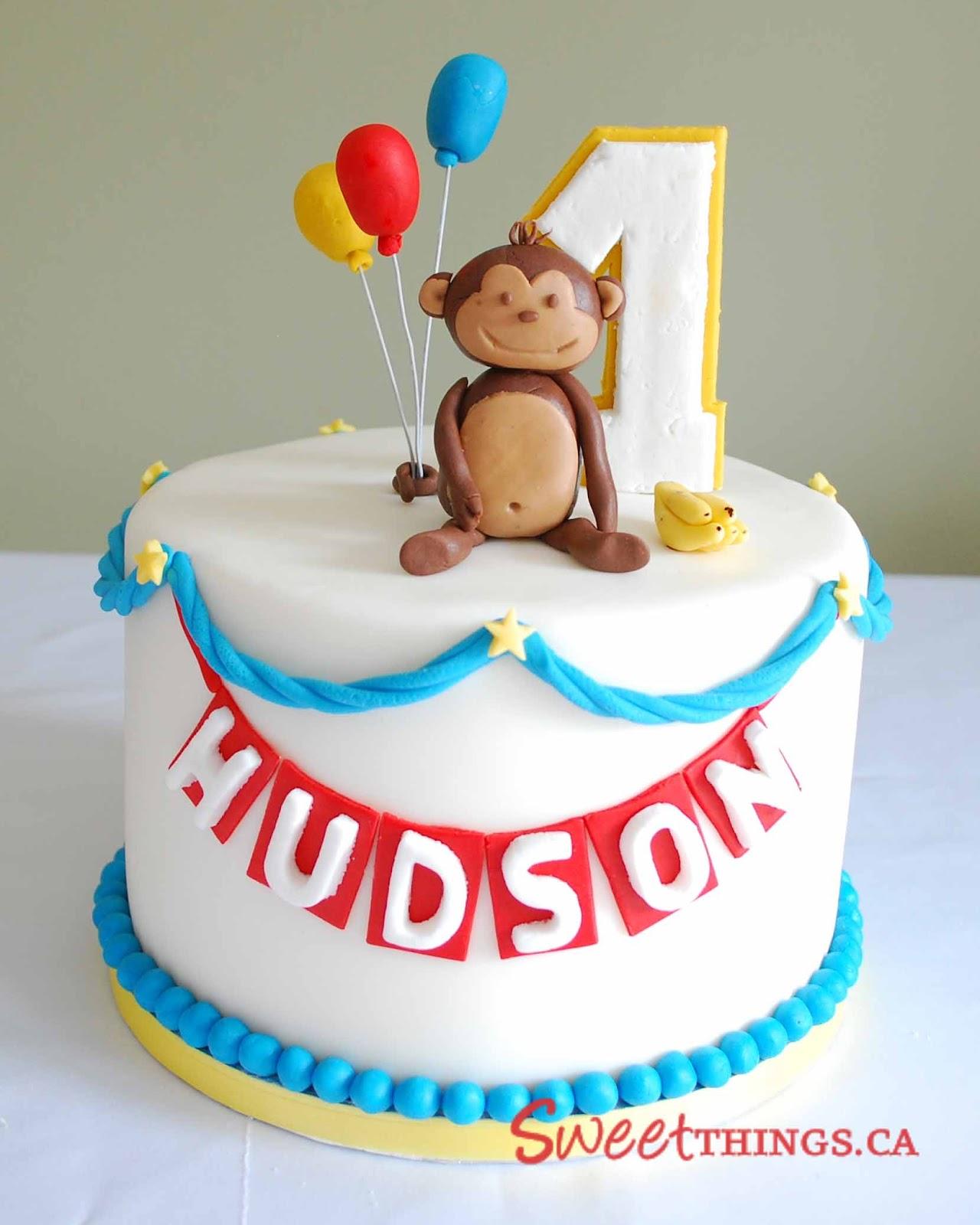 Sweetthings 1st Birthday Monkey Cake N Cupcakes
