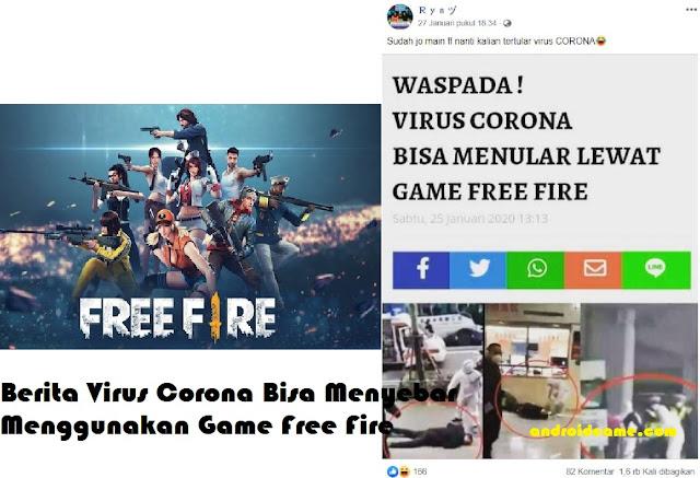 Berita Virus Corona Bisa Menyebar Menggunakan Game Free Fire