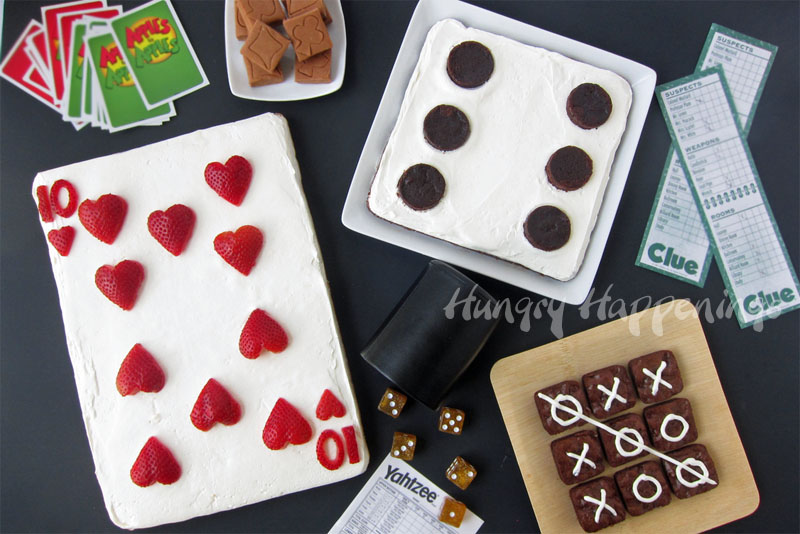 Family Game Night Snacks Fruit Pizza Playing Card
