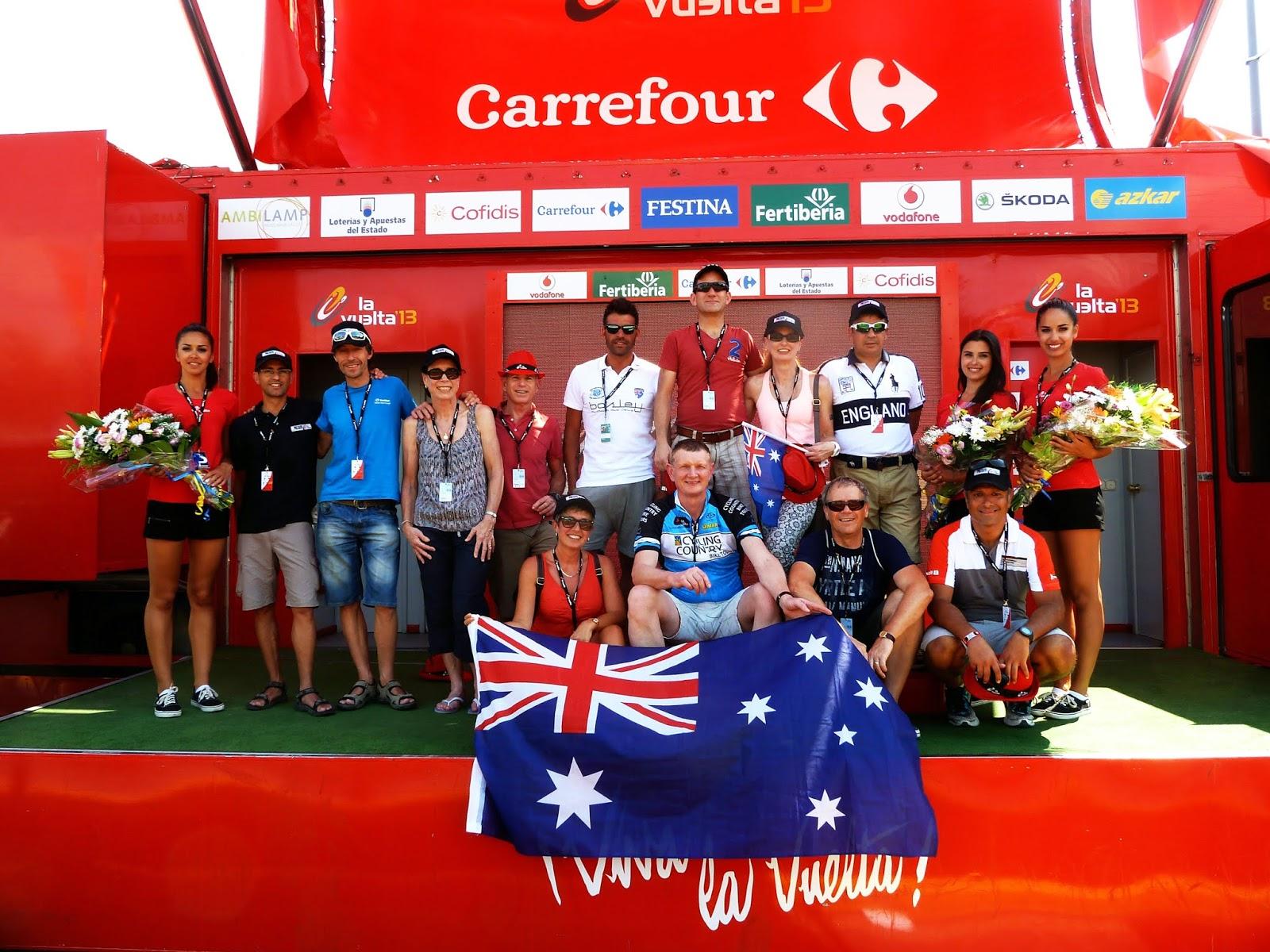 Cycling Country & Oscar Pereiro on the Podium at La Vuelta