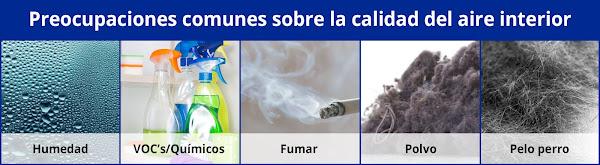 Preocupaciones comunes sobre la calidad del aire interior