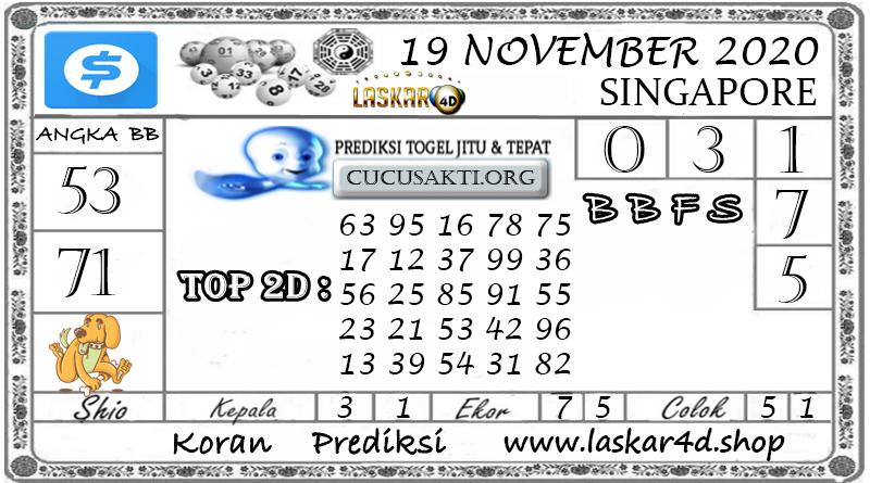 Prediksi Togel SINGAPORE LASKAR4D 19 NOVEMBER 2020