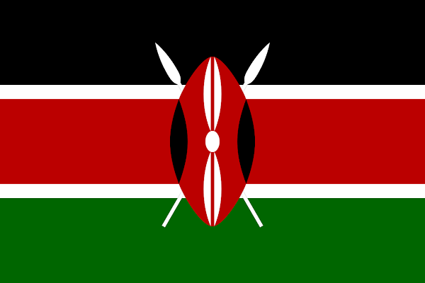 Logo Gambar Bendera Negara Kenya PNG JPG ukuran 600 px