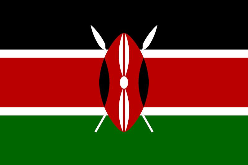 Logo Gambar Bendera Negara Kenya PNG JPG ukuran 800 px