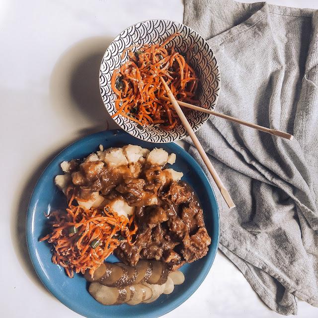 Pomysł na marchewkę po japońsku i idealny gulasz z pręgi wołowej
