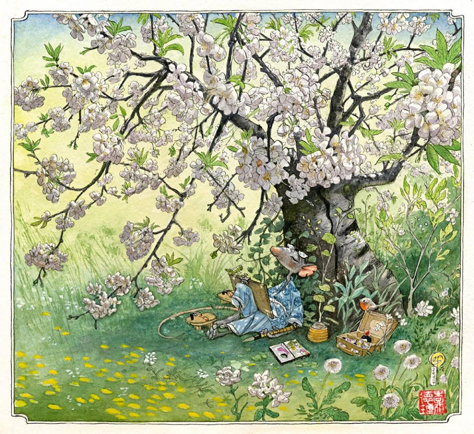 Pinzellades al món: Il·lustracions de Fred Saurel: ratolins artistes