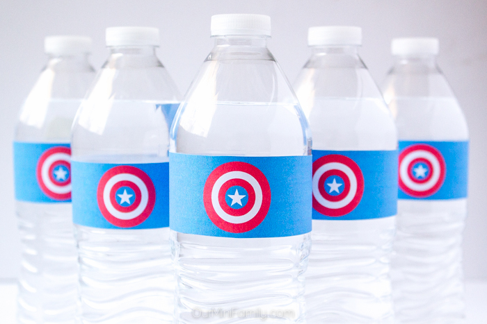 MARVEL\u0027S Captain America Shield Printable (for Water Bottles, Cans