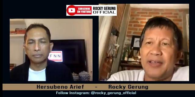 Komentari Pembubaran FPI, Rocky Gerung: Konstruksi Hukumnya Enggak Jelas, Memang Dicari-cari Aja