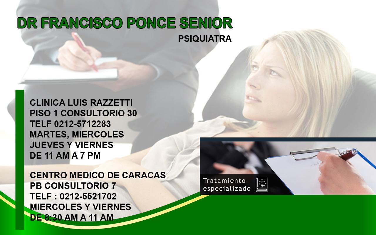 DR FRANCISCO PONCE SENIOR en Paginas Amarillas tu guia Comercial