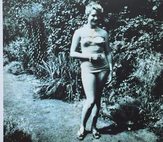 Pauline Boty in her swimsuit