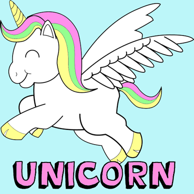 6 The Unicorns With Wings Coloring