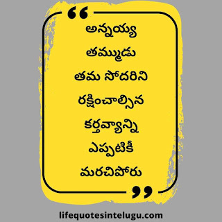 Heart Touching Brother And Sister Quotes In Telugu