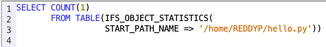 Check if an object is present in IFS directory