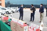 Entrega el Gobernador Astudillo vehículos y armamento al Fiscal General del Estado, Jorge Zuriel de los Santos para procuración de justicia en Guerrero
