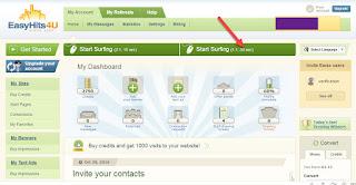 تبادل زوار لموقعك وخفض ترتيب اليكسا - EasyHits4U وربح المال