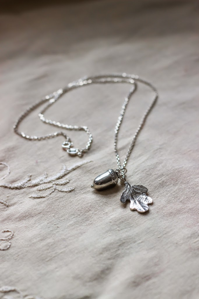 'Oak Leaf and Acorn' necklace by Glover and Smith