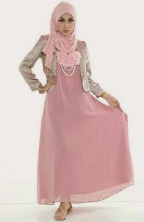 Contoh Baju Blazzer Muslim wanita kerja terbaru