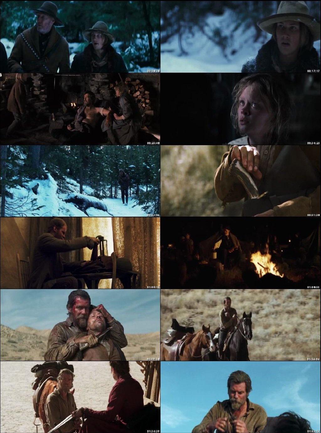 Screen Shot Of Seraphim Falls 2006 In Hindi English Dual Audio Bluray