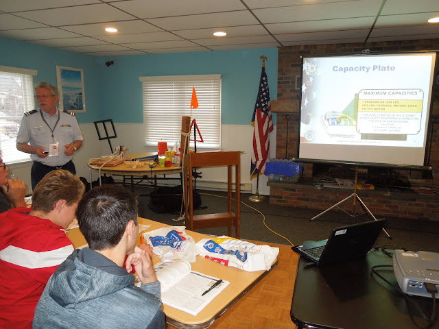 Paul Harren leading discussion during a boating safety class.