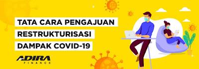 Cara Pengajuan Keringanan Kredit di ADIRA Finance, Relaksasi Kredit Nasabah Terdampak Virus Corona (COVID-19)