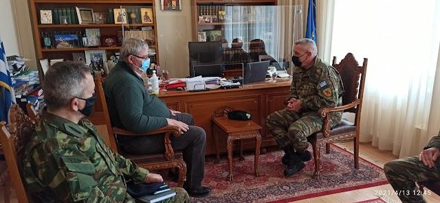 Ιωάννινα: Επίσκεψη Αρχηγού ΓΕΕΘΑ σε Περιφερειάρχη και Δήμαρχο (ΦΩΤΟ)