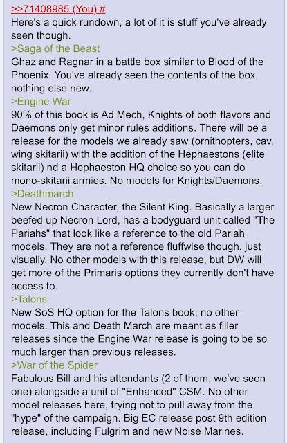 Rumores Warhammer 40,000