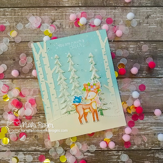 You are Such a Deer Card by Nakaba Rager | Woodland Spring  Stamp Set, Deer Friend Stamp Set and Forest Scene builder Die Set by Newton's Nook Designs #newtonsnook #handmade