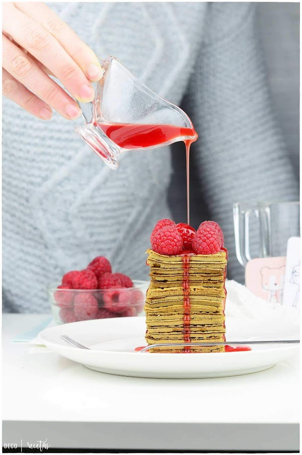 desayunos saludables tortitas de Té matcha